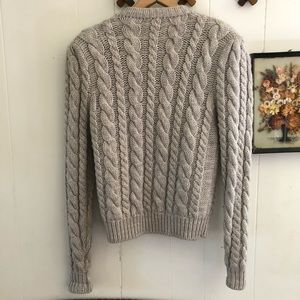 Vintage Sweaters - Thick Wool Knit Cardigan